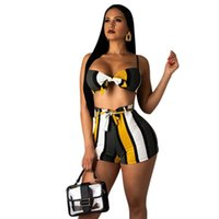 Spring Summer Women Two Piece Set Top and Pants Plus Size Outfits Tracksuit Sweatsuit Striped Sexy Bikini Sets Beach Casual