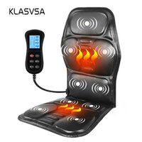 KLASVSA الكهربائية المحمولة التدفئة بالاهتزاز العودة مدلك كرسي في Cussion السيارات زارة الداخلية القطنية الرقبة فراش تخفيف الآلام CX200720