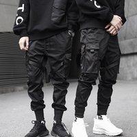 Мужские брюки Черный Грузовый Хип-хоп Мальчики Мульти-Карман Эластичная Талия Гарем Брюки Мужчины Уличная Одежда Панк Брюки Jogger Tactical 5XL