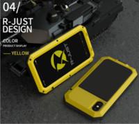 À prova de choque armadura caso telefone do metal de alumínio para iPhone 11 Pro XS MAX XR X 7 8 6 6S Além disso 5S 5 SE 2020 completa proteção Bumper Capa