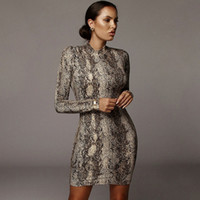 Cutubly Turtleneck Long Sleeve Dress Leopard Print Sexy Body...