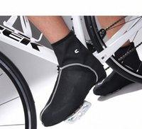 All'ingrosso-Windrpoof pile impermeabile ciclismo termica Mountain Sport Bike Cycling Shoe soprascarpe della serratura della bicicletta di guida COPRISCARPE e1tt #