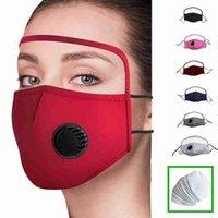 2 in 1 Gesichtsmaske mit Augenschild Staubdicht Waschbar Cotton Ventil Maske Radfahren wiederverwendbare Gesichtsmaske Gesichtsschutzschild