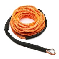 Corda do guincho da corda linha de cabo com bainha Grey Synthetic Towing Rope 15M 7700Lbs Car Wash Manutenção de Cordas para ATV Utv Off-Road