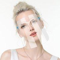 De los Estados Unidos, la máscara protectora de la cara llena con la máscara de gafas GlassTransparent anti fluidos careta de protección del polvo anti salpicaduras Boca Cara protectora transparente