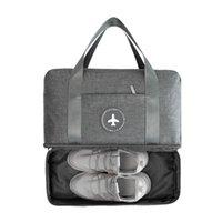 BUCHNIK Sac Voyage portable étanche double couche Classification Vêtements Chaussures Organisateur Bagages Tidy Pouch Accessoires fournis CX200718