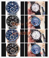 Qualité Meilleur Calibre De Cadran Noir Roman 42mm Montre en acier W7100056 W2CA0004 WSCA0011 Bracelet Caoutchouc Mécanique Automatique Montres de luxe pour homme