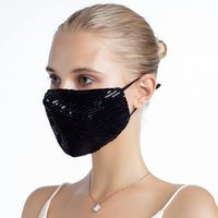 Bling Sequins Designer Face Masks Fashion Dustproof Washable...