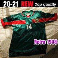 الرجعية الكلاسيكية 1998 كأس العالم المغرب المغرب لكرة القدم الفانيلة الحاج عواكيلي نكريز بسير 98 الرجعية لكرة القدم قميص الحجم: S-XXL