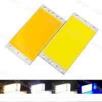 Perles lumière 94 * 50 mm 12V 15W LED COB Light Board Bleu Blanc Chaud lampe LED pour voiture bricolage Ampoules Intérieur Extérieur Décor Éclairage EUB