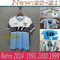 1998 00 01 Lazio Avrupa Ev Retro Futbol Forması 1999 Salas Mihajlovic Veron Stankovic Mancini Nesta Nedved Inzaghi Vintage Futbol Gömlek