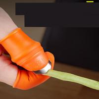 Pollice lama Glove Set Cutter Manica Razor Kit silicone Picker Taglio Finger Gloves Suit Cover coltello Picking Prickly metallo 7 43jy C2