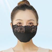 DHL Freies Verschiffen Waschbare Mode Spitze Gesichtsmasken Anti-Staub Wind Mund Maske Waschbare Atmungsaktive Maske Partymasken