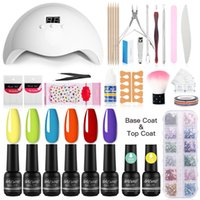 NAILWIND Set pour manucure Nails Gel UV Brillants Kit / Lampe machine ongles Outils d'art Décorations manucure Stickers pour les ongles