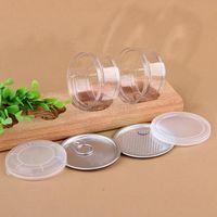 durchsichtiges Kunststoff-Glas PET mit Metalldeckeln luftdichter Dose Kann Ring BHO oi Konzentratbehälter Lebensmittel Herb Lagerung 100ML DHF1278 ziehen