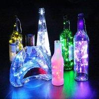 코르크 마개 구리 요정 스트립 와이어 야외 파티 장식 참신 밤 램프 DIY 코르크 빛 문자열 20 LED 태양 광 와인 병