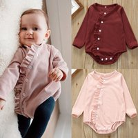 Autumn Newest INS Long Sleeve Bodysuits Princess Baby Girls ...