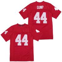 Film Football Jersey 44 Forrest Gump Tom Hanks Vintage rot genäht Film Top Qualität Größe S-3XL