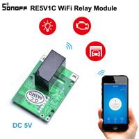 Sonoff RE5V1C Wifi Relais Module commutateur 5 V CC e-Welink à distance Relais de puissance commutateur mode Marche / Selflock Pour Smart Home