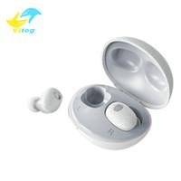 TWS T2S 블루투스 헤드셋은 5.0 노이즈 감소 공기 스테레오 이어폰 방수 이어폰 미니 귀마개 Wirelesss 이어폰으로 마이크를 꽃 봉오리