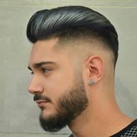 Mens postiche cheveux PU avec dentelle française perruques pour les hommes européens Remy Human Hair Replacement Systems postiche 10x8inch