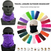 25 цветов Мода Бандан Face Mask Спорт на открытом воздухе оголовье Тюрбана Wristband платок шея Gaiter Велоспорт Магия шарфы CYZ2546 100шт