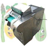 2020 Multifunktionsschneid Porree onion Schnitt Maschine kleine kommerzielle Pfeffer Schneidemaschine Edelstahl gerade Messer Fördergurt