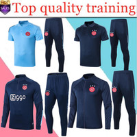 new Men and kids ajax soccer training suit jacket 2020 21 po...