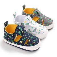첫 번째 워커 0-18M 태어난 아기 신발 여름 통기성 안티 슬립 인쇄 유아 소프트 솔