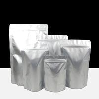 50pcs Round Corner di alluminio a chiusura lampo Bag Stand up alluminio Jam Aglio Packaging chicchi di caffè Pouch Bag