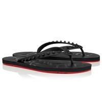 Verão Men Praia mocassim Slides Red inferior Loubi Virar Plano sandálias Boy Outdoor Praia Flip Flops Sandálias Eu38-46