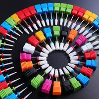 네일 아트 드릴 비트 세라믹 폴리싱 헤드 전기 손톱 파일 드릴 클리터 기계 액세서리 네일 공급 제거 도구