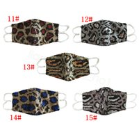 Sequin leopard masks bling bling mouth cover Cotton dustproof adjustable earhanging dnace night bar performance mask CYF4298-2