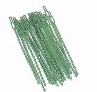 Planta plástico Bridas reutilizables de uniones de cable para la herramienta que ata el Jardín del árbol que sube Soporte ajustable Planta de jardín