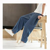 2020 Summer Men' s Casual Linen Pants Plus Size Men Brea...