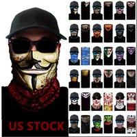 ABD Stok Kafatası Magic Eşarp Turban bandanas Yüz Maskeleri İskelet Doğa Sporları Hayalet Eşarplar Kafa Bisiklet Motosiklet Wrap FY7140