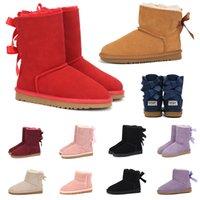 kadın avustralya platformu kürk tasarımcı lüks ayakkabı diz yüksek ayak bileği kar kış botları bayan kızlar için 2020 BOOTS eğitmenler spor ayakkabıları womens