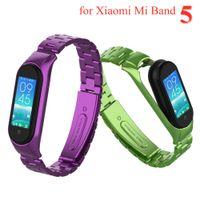 Für Mi Band 5 Strap Metall Edelstahl für Xiaomi Mi Band 5 Strap Kompatibel Armband Miband 5 Armband Pulseira Mi BAND5 Correa
