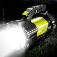 25W السوبر مشرق LED الكشاف المحمولة أضواء المحمولة USB قابلة للشحن + COB ضوء مصباح في الهواء الطلق التخييم فانوس
