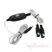 100set / серия 2M USB IN-OUT MIDI интерфейс кабель конвертер PC музыки шнура клавиатуры переходники свободная перевозка груза оптом