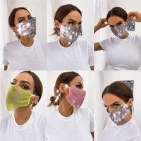 Diamante brillante máscara cristalina Mascarilla facial de lujo de la máscara máscaras de colores exquisitos Máscaras manera de las mujeres de la boca