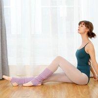 Spor Çorap 1 Çift Yoga Kadın Örme Boot Spor Spor Dans Bale Pilates Uzun Bacak 43 cm Uzunluk
