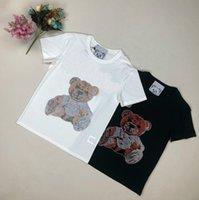 das mulheres T-shirt moda verão avançada importada de diamante hot super flash de carta padrão de manga curta tendência T-shirt dos homens