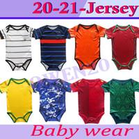 2020 2021 El último jersey Baby Jersey Baby Soccer Jerseys 20 21 Club 6-18 meses Mangas cortas Camisa de fútbol de Baby Football Jerseys