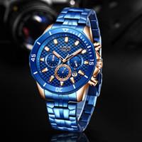 2020 Nouveau LIGE Hommes Montres Top Horloge Mode Casual Montre pour les hommes d'affaires robe montre-bracelet étanche chronographe