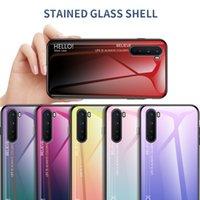 Ultra Slim Gradient Phone Cover onePlus Nord 8T 8 Pro 7T 7 6T 5T 5 N100 N10에 대 한 부드러운 광택 강화 유리 케이스