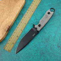 SELLO herramienta de herramienta de mano fijó la lámina supervivencia de caza acampar al aire libre afilada y duradera cuchillo recto táctico portátil