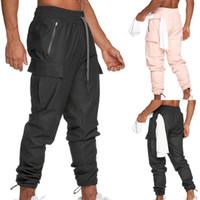 Mens-Sommer-Sport-Hose Laufen Outdoor Training Fitness Hosen Wasserdichte Kordelzug Hose mit Taschen Asiatische Größe
