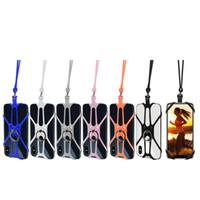 Universal Longe Téléphone Silicone Sports Mobile Téléphone Longes Anneau Porte cas cou Hanging Corde Sling pour IPhone Samsung Xiaomi