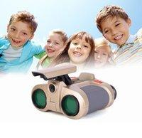 2018 vente chaude 4x30 télescope binoculaire de la vision nocturne de nouveauté enfants jouets pop-up lumière nocturne pour la vision portée cadeaux de Noël